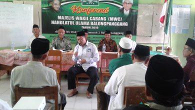 Photo of Rois Syuriyah K.H Fariqin, Ketua Tanfidziyah H. Mahmud dalam Konferensi MWC NU Balongpanggang periode 2019 – 2014