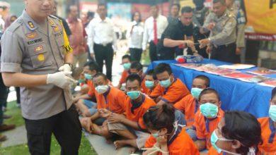Photo of Gelar Konferesi Pers Kapolres Beberkan Bandar dan Kurir Narkoba