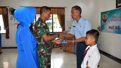 Photo of Peringati Hari Jadi ke-70 Lantanal V, Danlantanal V dan Ketua Korcab V DJA ll Anjangsana Panti Asuhan