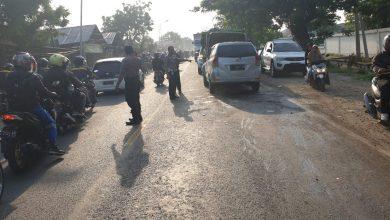 Photo of Laka Lantas Jalan Raya Desa.Manyarejo Kecamatan Manyar Membawa korban