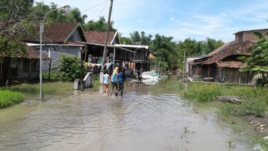 Photo of Bencana Banjir Ke Dua di Gresik Selatan Akibat Luapan Sungai Kalilamong Merata