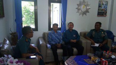 Photo of Danlanal Denpasar Menerima Audensi Guru SMP Albhana Renon