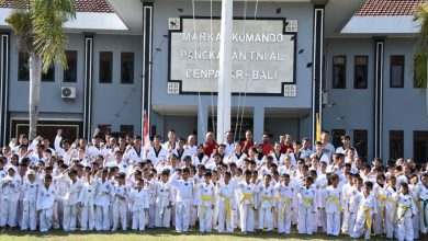 Photo of Danlanal Denpasar Bali Buka Ujian Kenaikan Tingkat Group Taekondo Denpasar Periode I