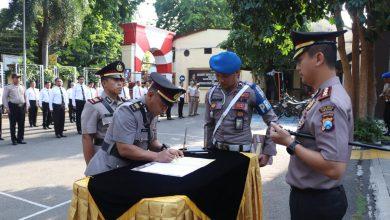 Photo of Serah Terima Jabatan Kasat Sabhara Dipimpin Kapolres