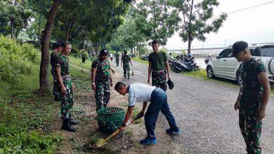 Photo of Pupuk Semangat Pelestarian Alam Lanal Batuporon Laksanakan Bersih Pantai
