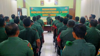 Photo of Resmikan Pembukaan Giat Binsiap Apwil Dan Puanter TW I TA. 2020 Kodim 0817/Gresik oleh Mayor Arh. Suwanto