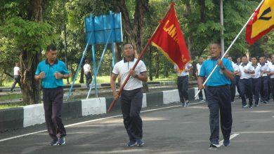 Photo of Prajurit Yonmarhanlan V Ikuti Olah Raga Bersama Danlantamal V