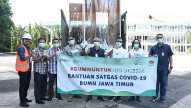 Photo of Petrokimia Gresik Kirim Bantuan Alat Dan Bahan Untuk Antisipasi Covid-19 Ke Posko BUMN Jatim
