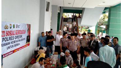 Photo of Kapolres Gresik Berikan Himbauan Kamtibmas Dan Gelar Baksos di Masjid Agung