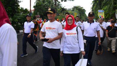 Photo of Danlantamal V Hadiri Acara Mlaku Bareng Jatim Sehat