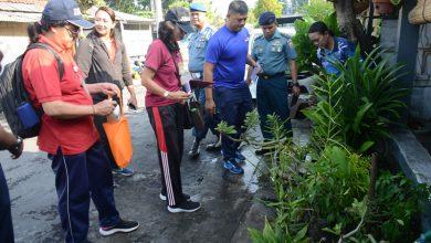 Photo of Juru Pantau Jentik Puskesmas I Denpasar Selatan Laksanakan Pengecekan di Rumdis Widianto Lanal Denpasar