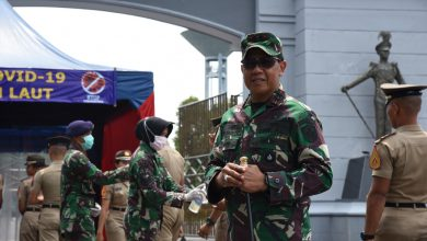 Photo of Tak Terkecuali, Masuki Kesatrian AAL Harus Lewati Lorong Disinfektan
