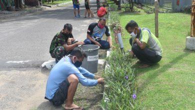 Photo of Cegah Covid 19, Segenap Prajurit Yonmarhanlan V Jaga Kebersihan Lingkungan
