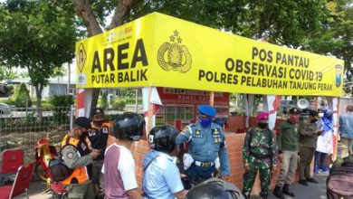 Photo of POM Lantamal V Perkuat  Pos Chek Point PSBB di Surabaya dan Sekitarnya