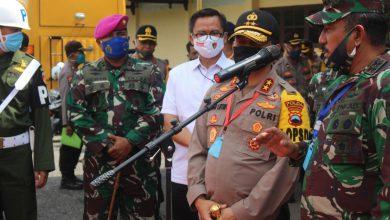 Photo of Danlanal Tegal Sambut Kunker Pangdam lV dan Kapolda Jateng Di Pemalang