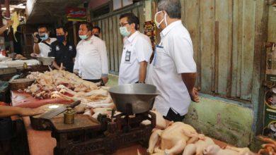 Photo of Kasat Reskrim Bersama Rombongan Dinas Terkait Sidak Langsung Daging Ayam
