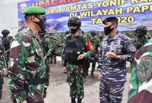 Photo of Dengan Menggunakan KRI Banda Aceh – 593 Pangdam IX/Udayana Lepas Satgas Pamtas Yonif Rider 900/SBW Di Pelabuhan Benoa Bali