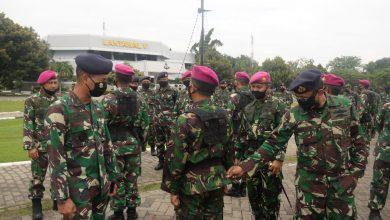 Photo of Lantamal V Gelar Apel Pasukan Pendisiplinan Pelaksanaan Protokol Kesehatan Di Wilayah PSBB Prov Jatim