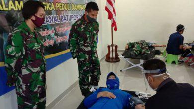 Photo of Penuhi Ketersediaan Darah Dampak Covid-19, Lanal Batuporon Gelar Donor Darah