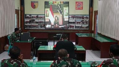 Photo of Dandim Gresik Lakukan Vidcon Dengan Panglima TNI