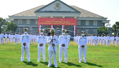 Photo of 97 Calon Perwira Remaja AAL, Ikuti Gladi Bersih Upacara Prasetya Perwira TNI 2020