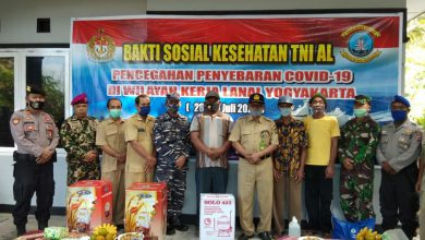 Photo of Secara Serentak Lanal Yogyakarta Gelar bahkti Sosuak Kesehatan TNI – AL Peduli Covid-19