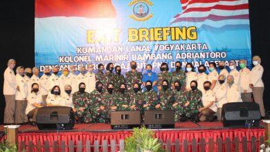 Photo of Exit Briefing Danlanal Yogyakarta Jelang Akhir Jabatan