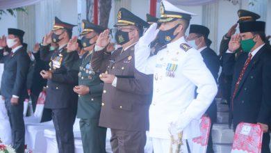 Photo of Danlanal Semarang Peringati Upacara HUT Kemerdekaan RI ke 75 Tahun 2020 di Balaikota Semarang