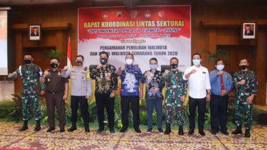 Photo of Danlanal Semarang Hadiri Rapat Koordinasi Lintas Sektoral Ops Mantap Praja-2020