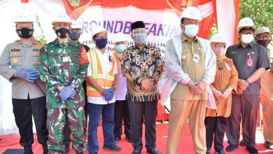Photo of Dandim Gresik Tinjau Pembangunan GROUNDBREAKING Sebagai Sistem Pengendalian Banjir Kali Lamong Di Desa Jono, Cerme