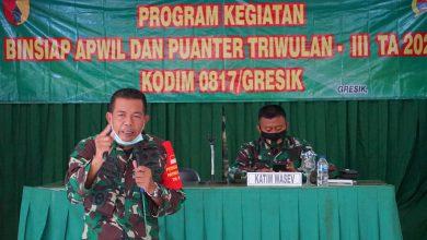 Photo of Dandim Gresik Pastikan Jajaran, Jalankan Fungsi Pembinaan Aparat Wilayah Melalui Kemampuanter Pada Fungsi Utama TNI-AD