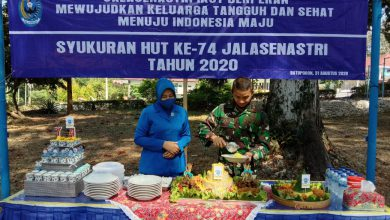 Photo of Cabang 5 Korcab V DJA II Lanal Batuporon Adakan Syukuran Peringatan ke -74 Jalasenastri