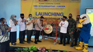 Photo of Kapolres Gresik Launching Sekolah Tangguh Semeru di SMK Muhammadiyah 1 Bungah