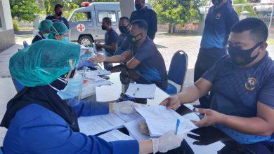 Photo of Prajurit Yonmarhanlan V Laksanakan Rapid Test di Mako Yonmarhanlan V