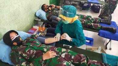 Photo of Sambut HUT TNI ke 75 Prajurit Lanal Semarang Sumbangkan Darah
