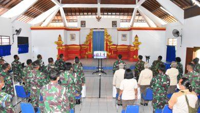 Photo of Peringatan Hari Kesaktian Pancasila Tahun 2020 Secara Virtual Di Lanal Denpasar