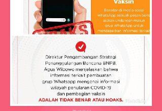 Photo of Informasi Ajakan Masuk Grup WhatsApp Untuk Pembagian Vaksin Covid-19 HOAKS