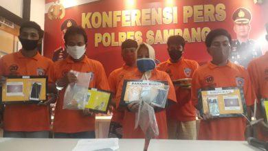 Photo of Amankan 7 Orang Tersangka Dalam Kasus Penyalahgunaan Narkotika, 1 Seorang Wanita