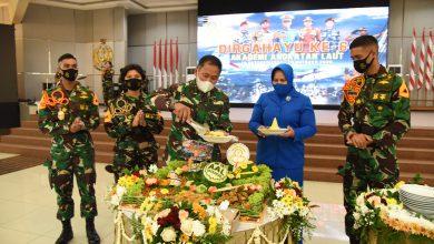 Photo of Potong Tumpeng Warnai Tasyakuran HUT ke-69 Akademi Angkatan Laut