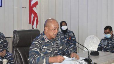 Photo of Vidio Converence Dengan Mabesal Komandan Lantamal V  Jelaskan Situasi Terkini Di Wilayahnya