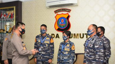 Photo of Taruna-Taruni AAL Satlat KJK 2020 CC Forkopimda Sumatera Utara.