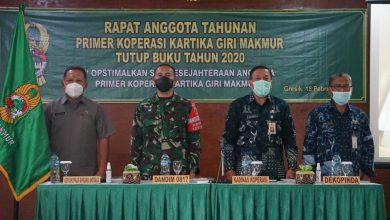 Photo of Dandim 0817/Gresik Pimpin Rapat Anggota Tahunan Primer Koperasi Kartika Giri Makmur