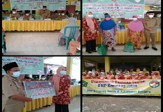 Photo of Bhaksos Kepala Kanwil dan Ketua DWP Kementerian Agama di Desa Deliksumber, Kecamatan Benjeng