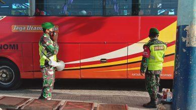 Photo of Disiplin Prokes Dan  PPKM MIKRO Selalu Digaungkan  Babinsa Cerme Di Stasiun dan Terminal