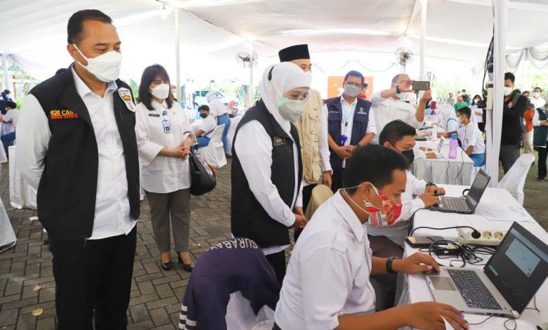 Photo of Provinsi Jatim Kejar Herd Imunity Pada HUT RI Ke-76. Menguatkan Bupati/ Walikota Percepat Vaksinasi Pelajar